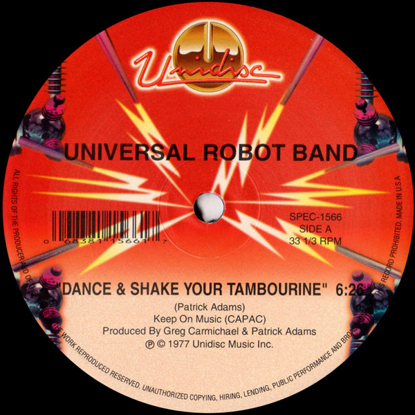 universal-robot-band-dance-shake-your-tambourine-unidisc-cover