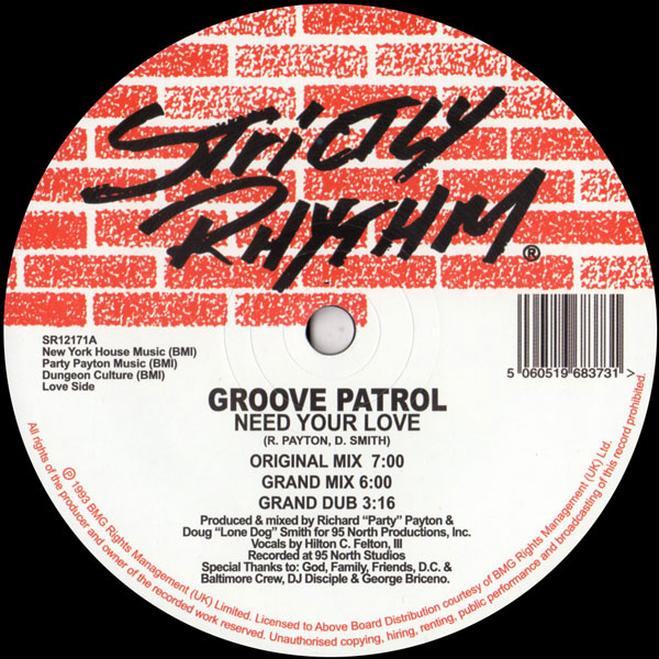 groove-patrol-95-north-need-your-love-dancin-to-the-strictly-rhythm-cover