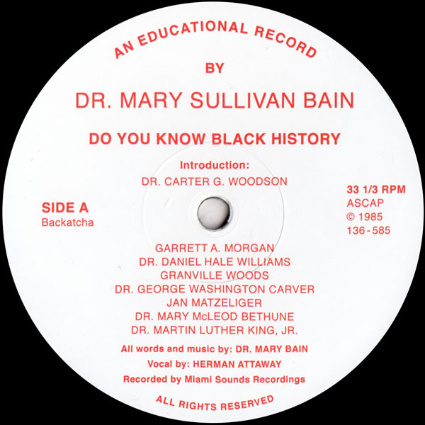 dr-mary-sullivan-bain-do-you-know-black-history-repre-backatcha-records-cover
