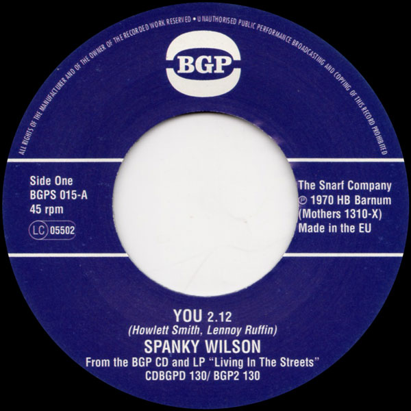spanky-wilson-sunshine-of-your-love-you-bgp-records-cover