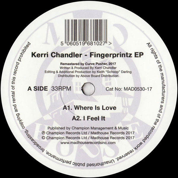 kerri-chandler-fingerprintz-ep-madhouse-records-cover