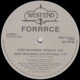 forrrce-keep-on-dancin-west-end-records-cover