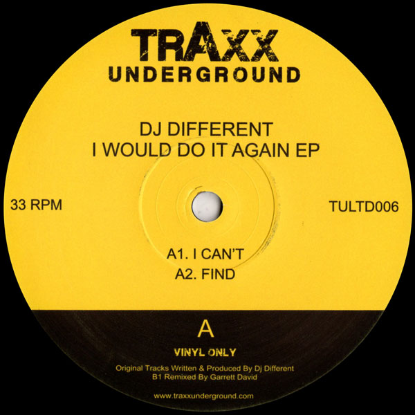 dj-different-i-would-do-it-again-ep-garrett-traxx-underground-cover