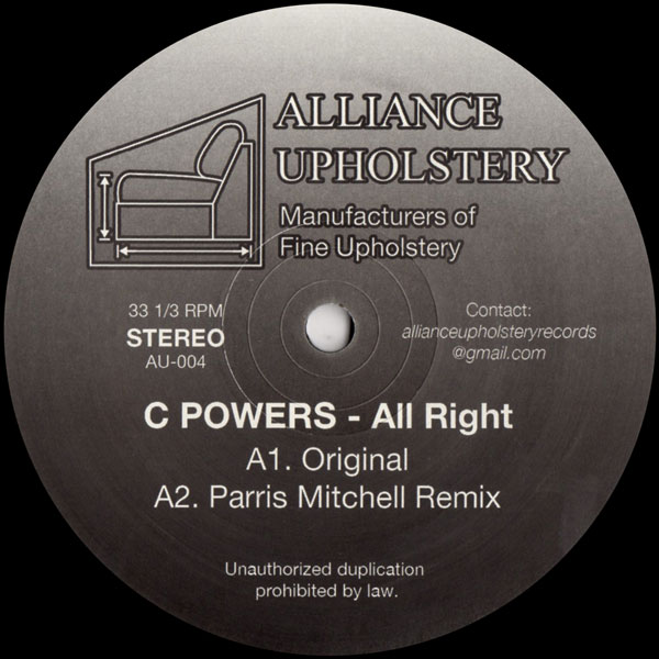 c-powers-all-right-parris-mitchell-remix-alliance-upholstery-cover