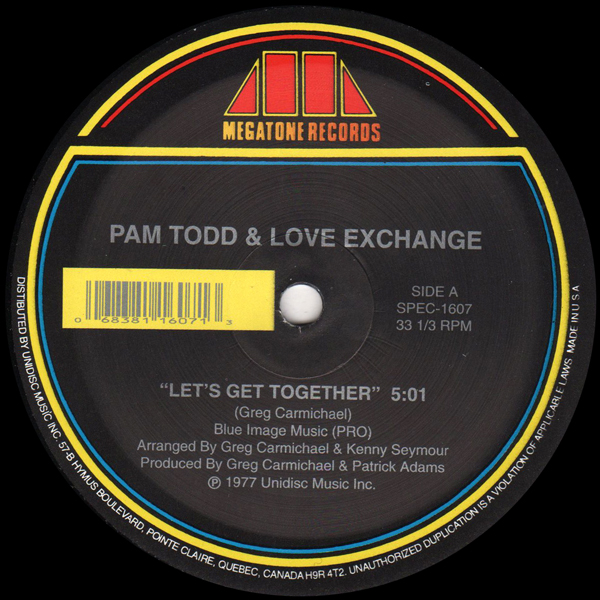 pam-todd-love-exchange-sylve-lets-get-together-living-for-unidisc-cover