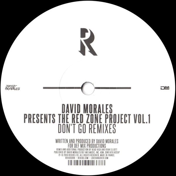 david-morales-the-red-zone-project-vol-1-rekids-cover