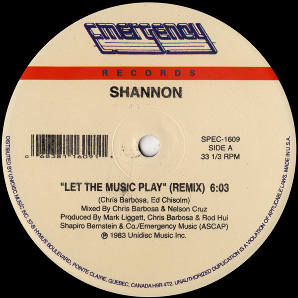 shannon-let-the-music-play-emergency-records-cover