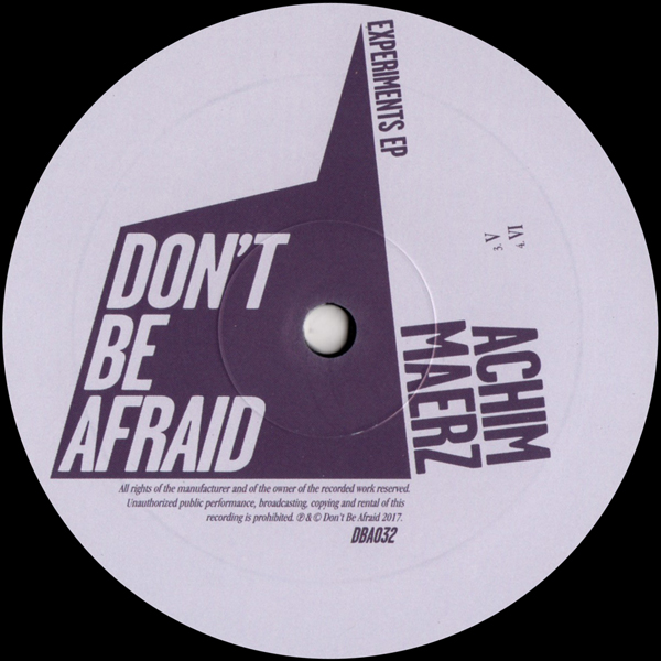 achim-maerz-experiments-ep-dont-be-afraid-cover