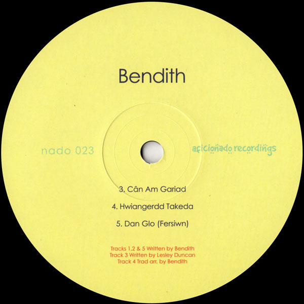 bendith-bendith-ep-aficionado-recordings-cover