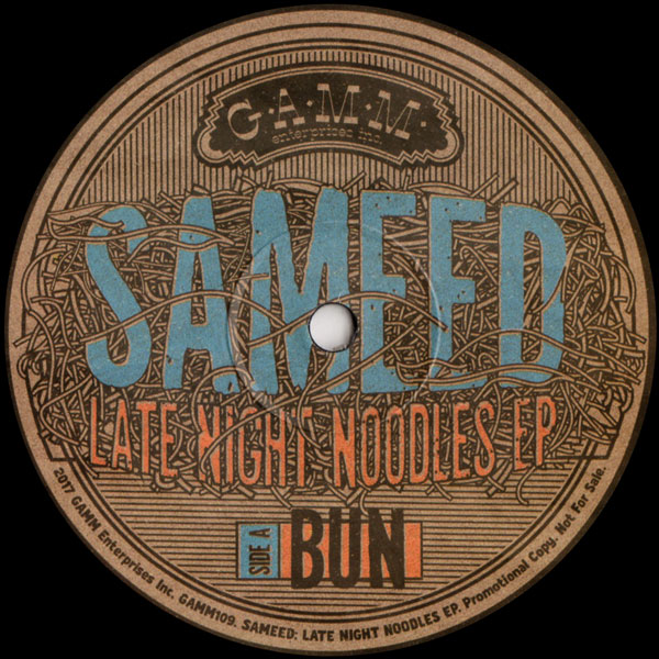 sameed-late-night-noodles-ep-gamm-records-cover