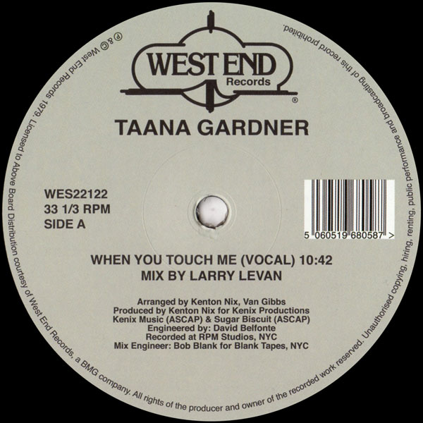 taana-gardner-when-you-touch-me-larry-levan-west-end-cover