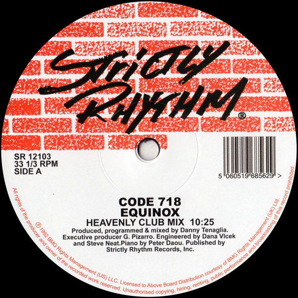 code-718-danny-tenaglia-equiknox-strictly-rhythm-cover
