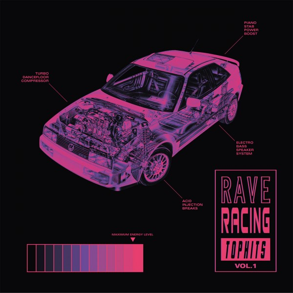 various-artists-rave-racing-top-hits-vol1-aiwo-records-cover