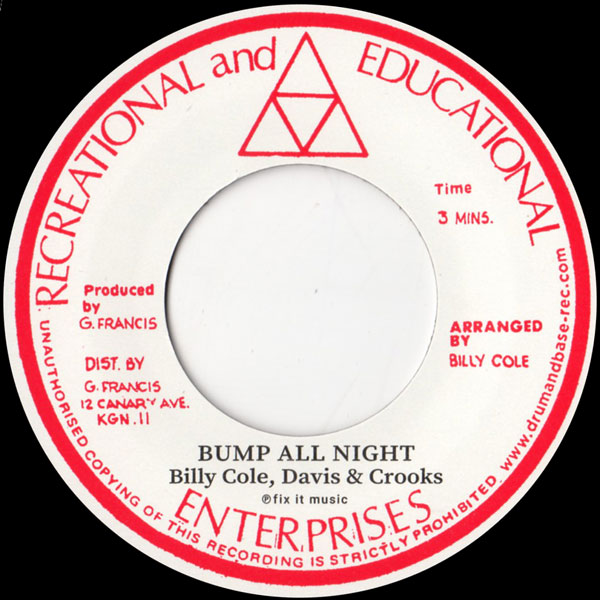 billy-cole-bump-all-night-woman-rock-a-shacka-cover
