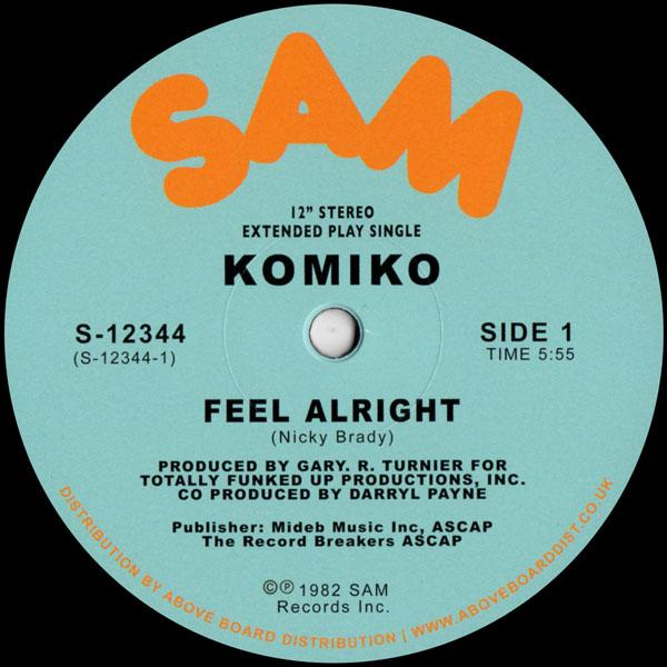 komiko-feel-alright-sam-records-cover