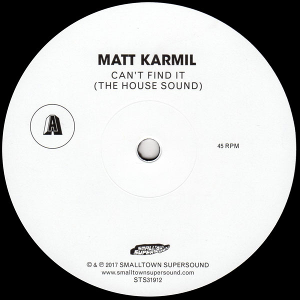 matt-karmil-cant-find-it-the-house-sound-smalltown-supersound-cover