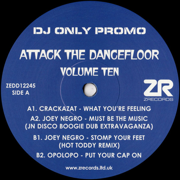 joey-negro-crackazat-various-attack-the-dancefloor-volume-z-records-cover