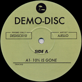 ajello-10-is-gone-demo-disc-cover