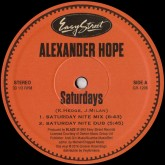 alexander-hope-saturdays-official-reiss-groovin-recordings-cover