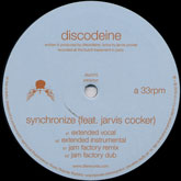 discodeine-jarvis-cocker-synchronize-jam-factory-rem-dfa-records-cover