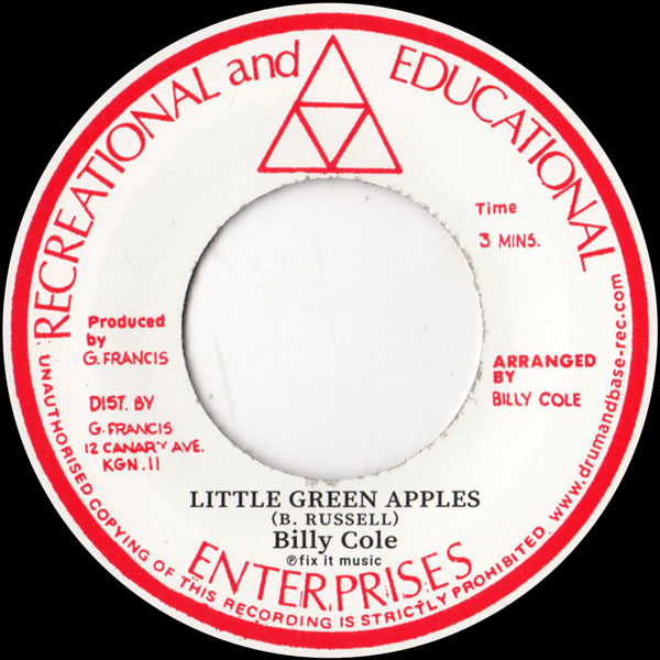 billy-cole-little-green-apples-mystic-rock-a-shacka-cover