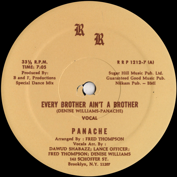 panache-every-brother-aint-a-brot-rr-records-cover