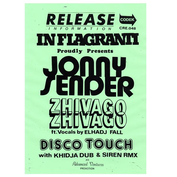 jonny-sender-zhivago-zhivago-disco-touch-codek-records-cover