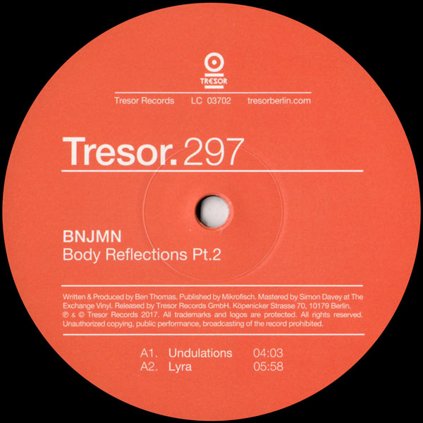 bnjmn-body-reflections-pt-2-tresor-cover