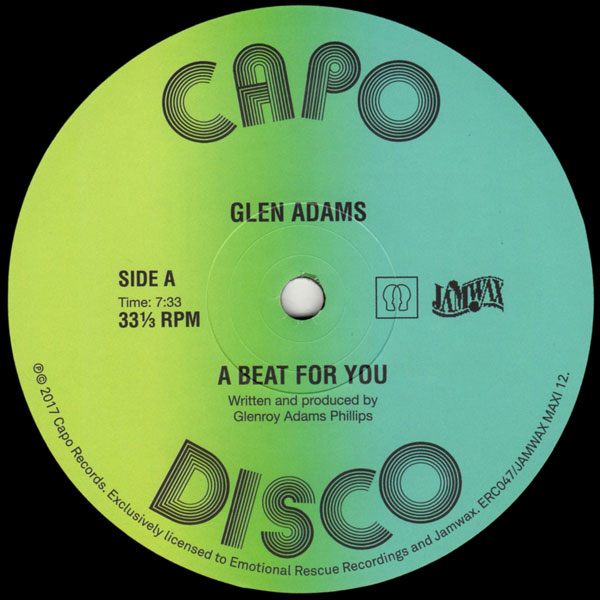 glen-adams-a-beat-for-you-versions-jamwax-emotional-rescue-cover