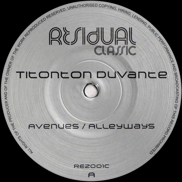titonton-duvante-avenues-alleyways-residual-recordings-cover