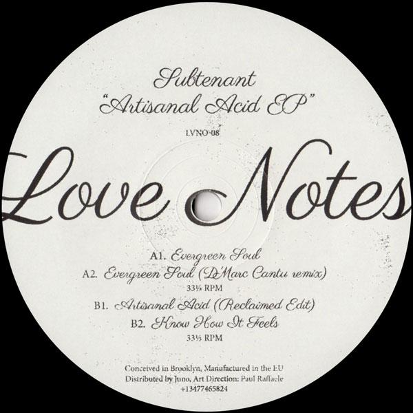 subtenant-artisanal-acid-ep-dmarc-cantu-love-notes-cover