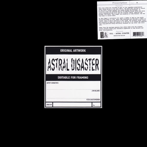 coil-astral-disaster-lp-yellow-vinyl-prescription-uk-cover