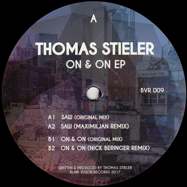 thomas-stieler-on-on-ep-blind-vision-records-cover