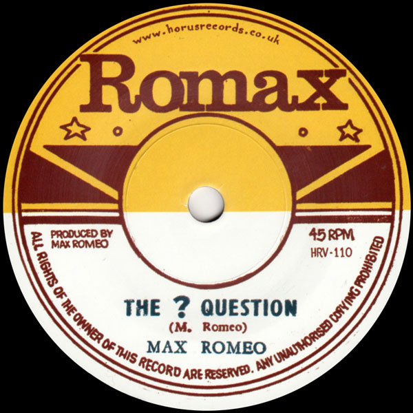 max-romeo-ron-wilson-the-question-rat-poi-horus-records-cover