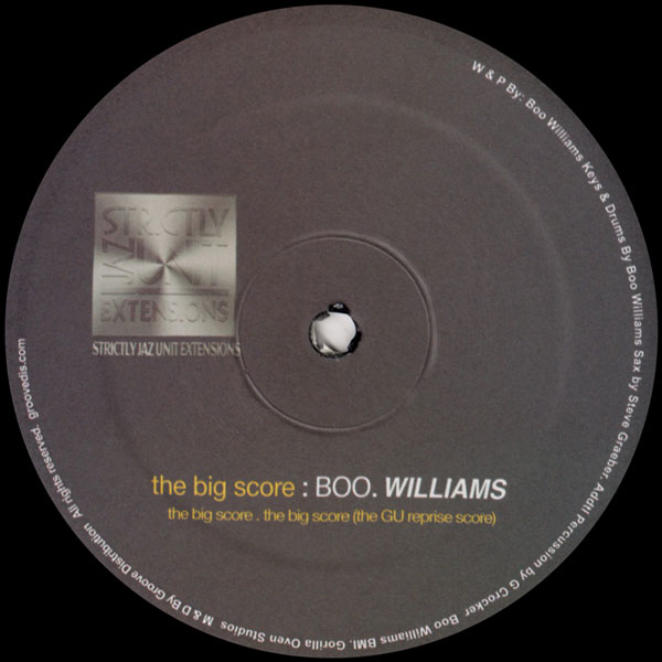 boo-williams-the-big-score-strictly-jaz-unit-muzic-cover
