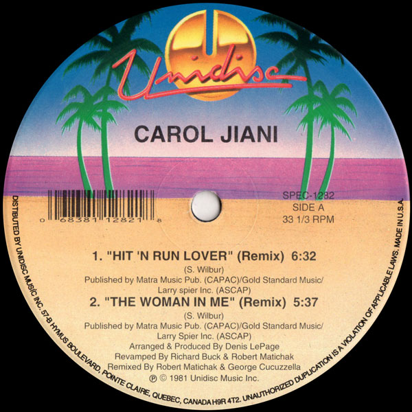 carol-jiani-hitn-run-lover-the-woman-in-unidisc-cover